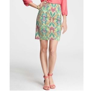 🆕 NWT Ann Taylor Fantasy Paisley Madison Skirt